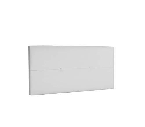 DHOME Cabecero de Polipiel o Tela AQUALINE Pro cabeceros Cabezal tapizado Cama Lujo (Polipiel A.Blanco, 95cm (Camas 70/80/90))