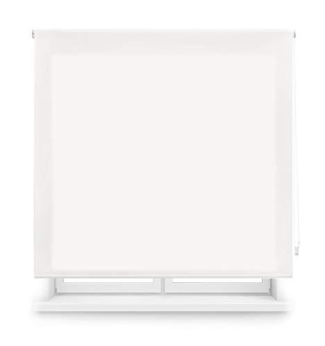 Blindecor Ara Estor enrollable translúcido liso, Blanco roto, 160 x 175 cm, Manual