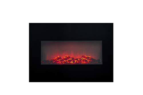 Classic Fire Memphis' Calefactor eléctrico con iluminación led-1800W, Negro, Talla única