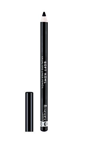 Rimmel London Soft Khol Kajal Eyeliner Pencil Liners Tono 061 Jet Black, 1.2 gr