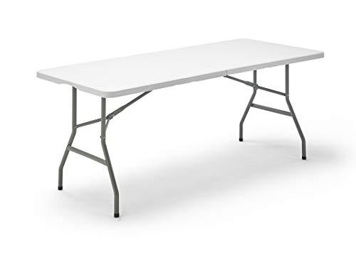 KG KITGARDEN - Mesa Plegable Multifuncional, 180x74x74cm, Blanco, KG Folding 180