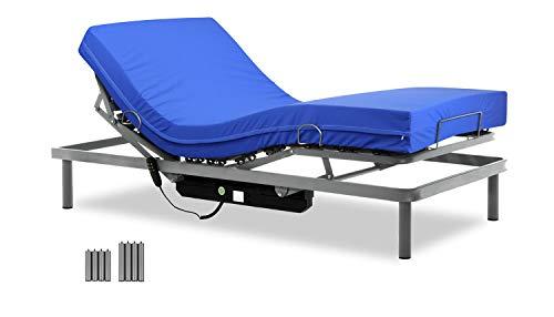 Gerialife Cama articulada con colchón Sanitario HR Impermeable (90x190)