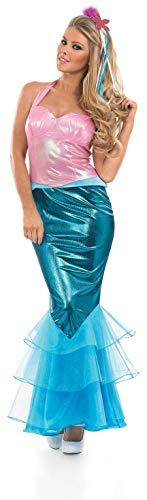 Fun Shack Disfraz de Sirena para Mujer. Vestido de Princesa Sirena mágica, Talla S