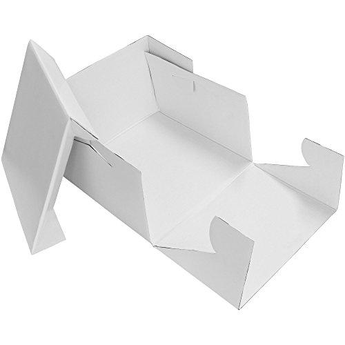 PME CBO805 Caja para Tarta 27,5x27,5x15cm, Blanco, 11-Inch