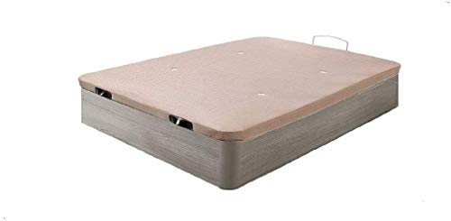 HOGAR24.es 3D- Canapé abatible de Madera de Gran Capacidad Tapa 3D Transpirable Color Roble Cambrian-135x190cm