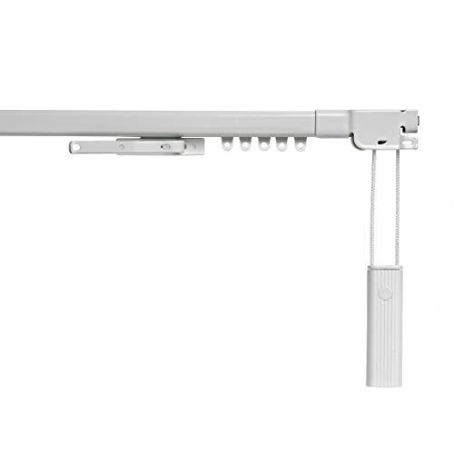 STORESDECO Rieles para Cortinas Extensibles. Riel Extensible metálico, en Color Blanco, con Ancho de hasta 390cm. Accionamiento a cordón. (70 a 120 cm)