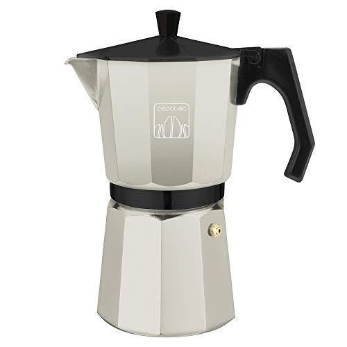 Cecotec cafetera Italiana MokClassic 1200 Beige. Fabricada en Aluminio Fundido Hacer café con el Mejor Cuerpo y Aroma, para 12 Tazas de café