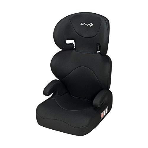 Safety 1st Road Safe Silla de Coche Grupo 2/3, Reclinable en 2 Posiciónes, Fácil y Rápida de Instalar con Cinturón de Seguridad, Full Black (negro)