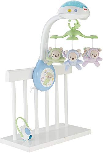 Fisher-Price Móvil ositos voladores, juguete de cuna proyector para bebé (Mattel CDN41)