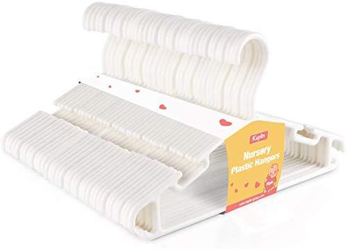 KEPLIN Perchas de plástico antideslizantes para ropa de bebé, 36 unidades, color blanco