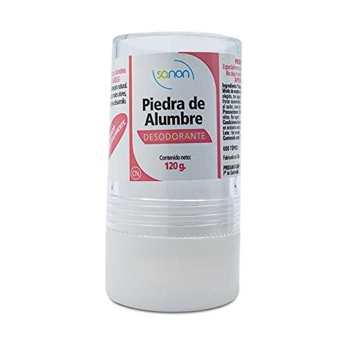 SANON - Desodorante Piedra De Alumbre, Amber, 120 Gramo