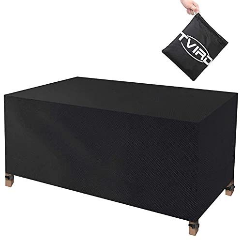Tvird Funda para Muebles Impermeable,Funda Mesa Jardin,Cubierta para Exterior Funda Protectora Muebles Mesas Sillas Sofás Exterior 420D Oxford Impermeables Anti-Viento/UV(170 x 94 x 70CM)-Negro