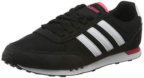 adidas City Racer W, Zapatillas de Deporte Mujer, Negro (Negbas/Ftwbla/Supros), 37 1/3 EU