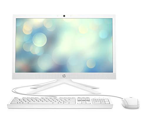 HP All-in-One 21-b0004ns - Ordenador de sobremesa de 20.7' FullHD (Intel Celeron J4025, 4GB RAM, 256GB SSD, Intel UHD Graphics, sin sistema operativo) blanco nieve - teclado QWERTY español