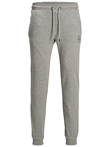 Jack & Jones Jjigordon Jjshark Sweat Pants Viy Noos Pantalones de Deporte, Gris (Melange Gris Claro Melange Gris Claro), W (Tamaño del Fabricante: L) para Hombre