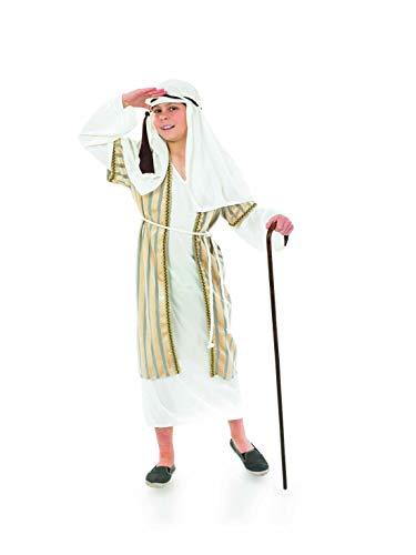 Fun Shack Disfraz Dorado de Pastor para niños. Traje navideño para el belén para niños y niñas, Talla M