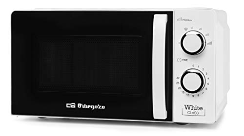 Orbegozo MI 2115 Microondas con 20 litros de capacidad, 6 niveles de funcionamiento, temporizador hasta 30 minutos, 700 W, Blanco