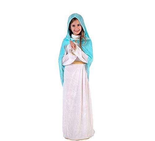 ATOSA disfraz virgen maría niña infantil navideño blanco 5 a 6 años