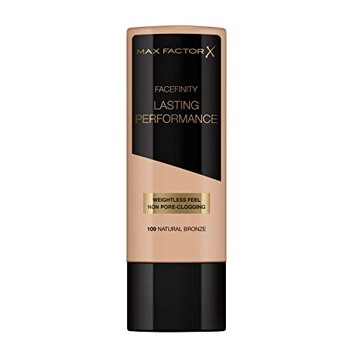 Max Factor Lasting Performance Base De Maquillaje Líquida Tono 109 Natural Bronze - 35 ml