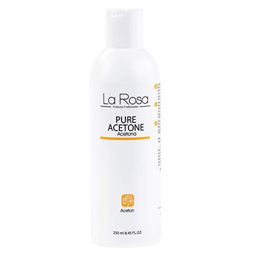 La Rosa Pure Acetone Quitaesmalte Acetona Pura Con Aroma A Lima 250 Ml 250 ml