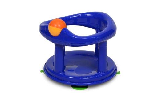 Safety 1st Asiento de baño, giratorio 360°, con ventosas y juguete integrado, Color Azul