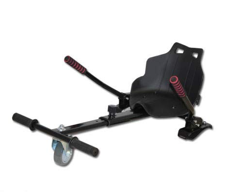 OVIBOARD Silla, Asiento de Hoverboard, Kart para Patinete, Adaptable 6.5 8 y 10 Pulgadas (Negro)