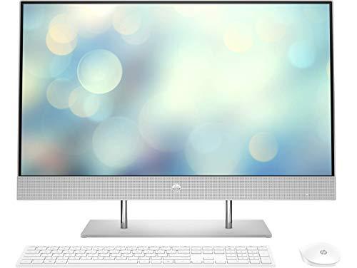HP All-in-One 27-dp0067ns Ordenador de sobremesa de 27' FullHD ( AMD Ryzen 5 4500U, 16GB de RAM, 512GB SSD, sin sistema operativo) Plata Natural - Teclado QWERTY Español