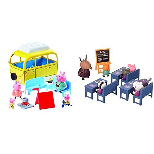 Peppa Pig Autocaravana + Playset Vamos Al Cole