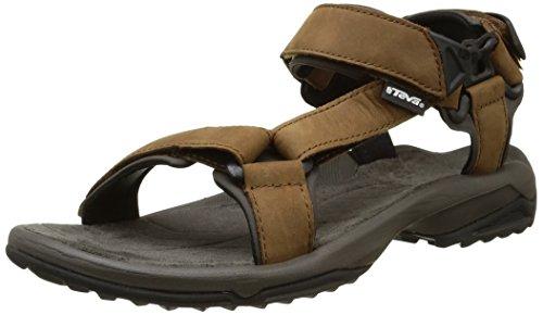 Teva Terra Fi Lite Leather M's, Sandalias de Senderismo para Hombre, Marrón (Brown), 43