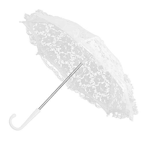 HERCHR Paraguas de Novia de Boda, sombrilla de Encaje Floral, decoración de Paraguas, Boda, Novia, fotografía Hecha a Mano, Paraguas de utilería(#1)