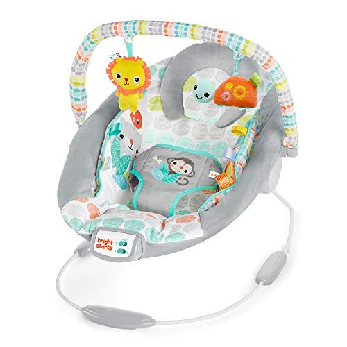 Bright Starts, Hamaca bebé con vibraciones relajantes y melodías - Whimsical Wild