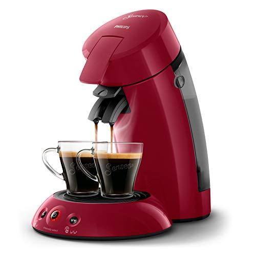 Philips SENSEO Original HD6554/91 - Cafetera monodosis con tecnología Coffee Boost y Crema Plus, selección de intensidad, color rojo