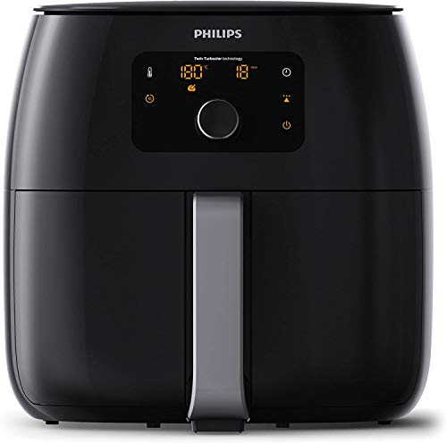 Philips Avance Collection Airfryer XXL HD9652/90 - Freidora (Freidora, 1,4 kg, Solo, Negro, Giratorio, Tocar, Independiente)