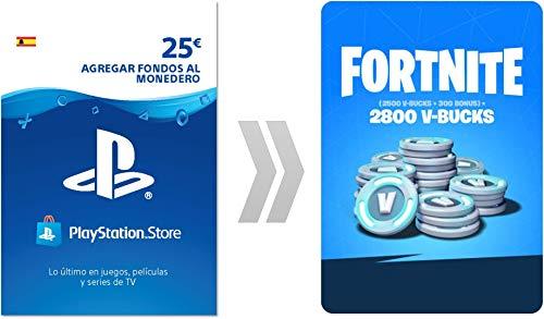 PSN Credito para Fortnite 2800 V-Bucks   Código de descarga PS4 - Cuenta española