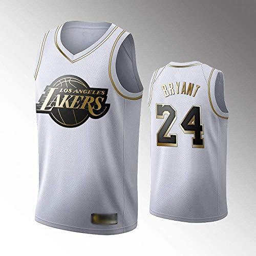 Kobe Bryant Jersey Camiseta de Baloncesto para Hombre de Los Angeles Lakers # 24 Jersey de Baloncesto Bordado de Malla Bordada,D,M