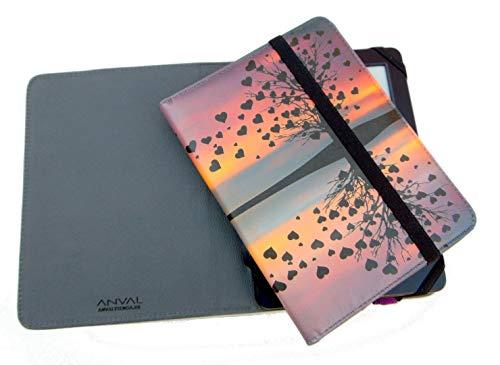 ANVAL Funda EBOOK BQ Cervantes Touch Light - Estampados - Funda Libro electrónico