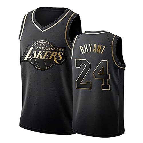 SHUWNSJ Uniformes De Baloncesto, Los Ángeles # 24 Kobe Swingman Bordado Malla Transpirable Resistente Al Desgaste Swingman Camiseta De Aficionado Al Baloncesto (D,Medium)