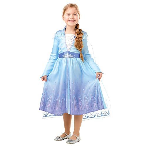 Disney, Elsa Travel Frozen2 Classic - Disfraz de Elsa Travel, Multicolor, M (5-6 años)