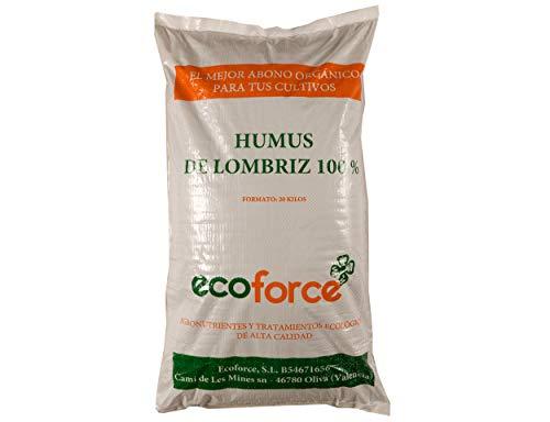 CULTIVERS Humus de Lombriz Ecológico 20 kg (40 L). Abono para Plantas indicado para Tomates y Hortalizas. Fertilizante Orgánico 100% Natural.