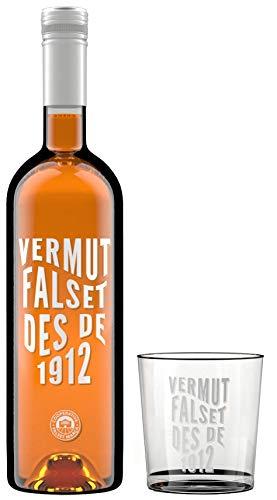 Pack Vermut Falset des de 1912 + 1 vaso serigrafiado - Vermut Blanco - Garnacha Blanca - 1 x 75 cl