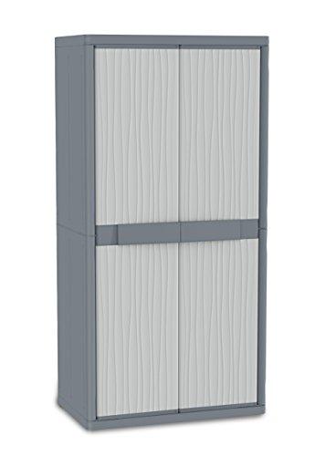 Terry, Jumbo 2900 UW, Armario Exterior 2 Puertas, 4 Estantes Internos, Gris, 89,7x53,7x180 cm