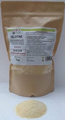 Gelatina granulada grado profesional, sabor neutro - 1kg