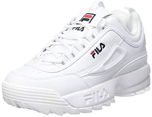 FILA Disruptor kids zapatilla Unisex niños, blanco (White), 35 EU