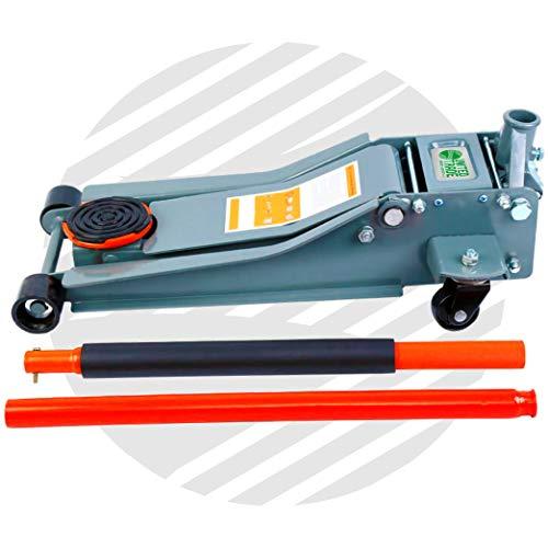 Gato hidráulico de perfil bajo de 3 toneladas con facilidad de elevación rápida, 3000 kg
