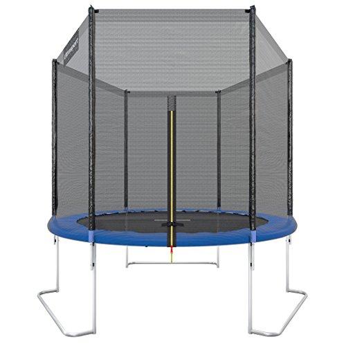 Ultrasport Cama elástica de jardín Uni-Jump Trampolín Infantil, certificación Intertek GS, con Superficie de Salto, Red de Seguridad, Unisex Niños, Azul (Azul Oscuro), 180 cm