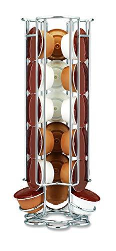 Fackelmann Porta, Soporte de Acero para almacenar o Colocar 18 cápsulas de café Dolce Gusto, 1ud Cromado