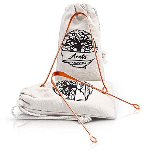 Limpiador de Lengua de cobre | Yoga & medicina Ayurveda | raspador de lengua | respaldados por la ciencia (2)