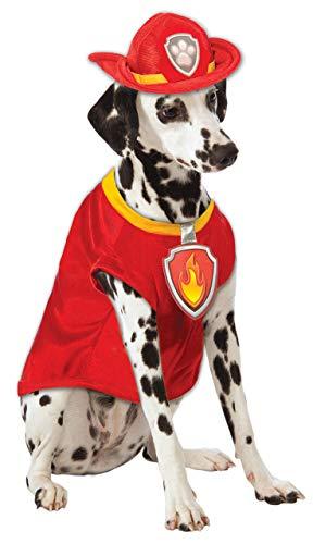 Rubie'S 580211M Disfraz Oficial de la Patrulla Canina Marshall para Perro, Mediano (Cuello a Cola 38 cm, Pecho 43 cm)