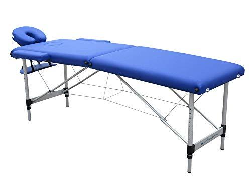 Mobiclinic, Camilla Fisioterapia Plegable, CA-01 Light, Reposacabezas, Aluminio y polipiel, 186x60 cm, Portátil, Azul