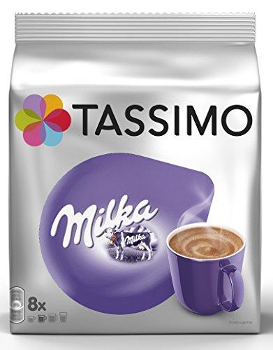 Tassimo Milka Chocolate - Chocolate Caliente de Milka 5 paquetes de 8 unidades: Total 40 unidades